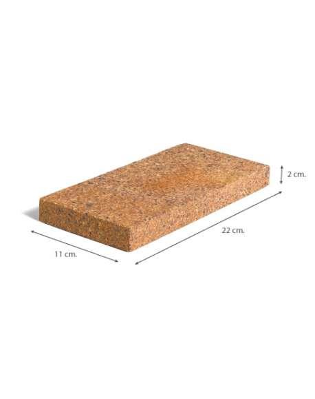 Refractario 2x11x22 cazoleta