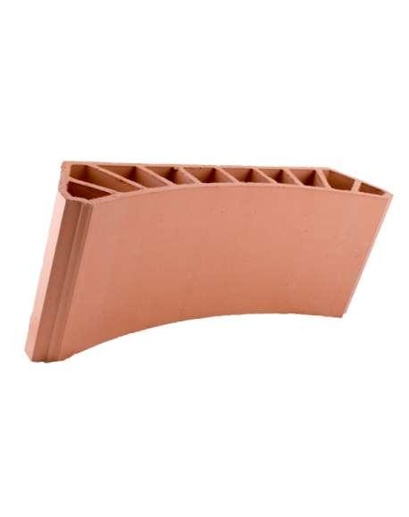 Bovedilla cerámica curva lisa de 13 Natural