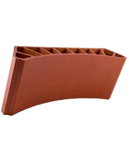 Bovedilla cerámica curva lisa de 13 Liso cuero