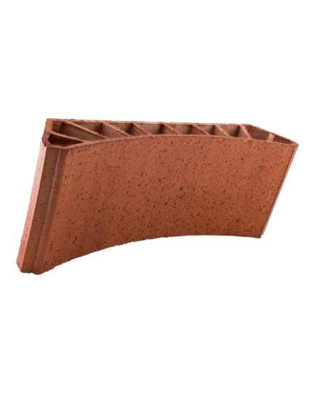 Bovedilla cerámica curva lisa de 13 Rugoso rústico