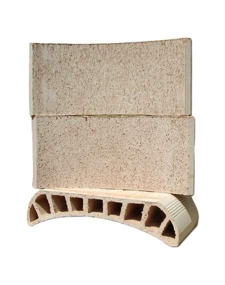 Bovedilla cerámica curva de 13 Corcho raspado