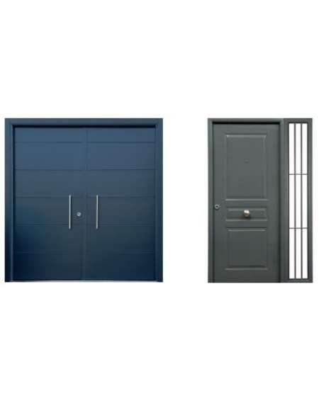 Puerta doble hoja y fijos