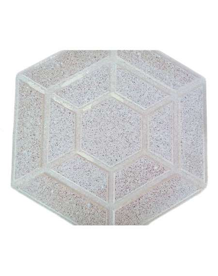 Terrazo Salmón Hexagonal pulido