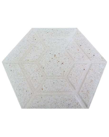 Terrazo Blanco Hexagonal pulido