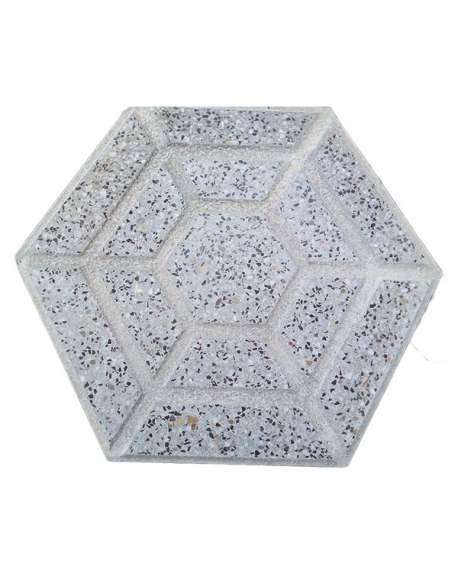 Terrazo Gris Hexagonal pulido