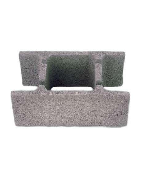 Bloque de muro de hormigón H 25x20x50