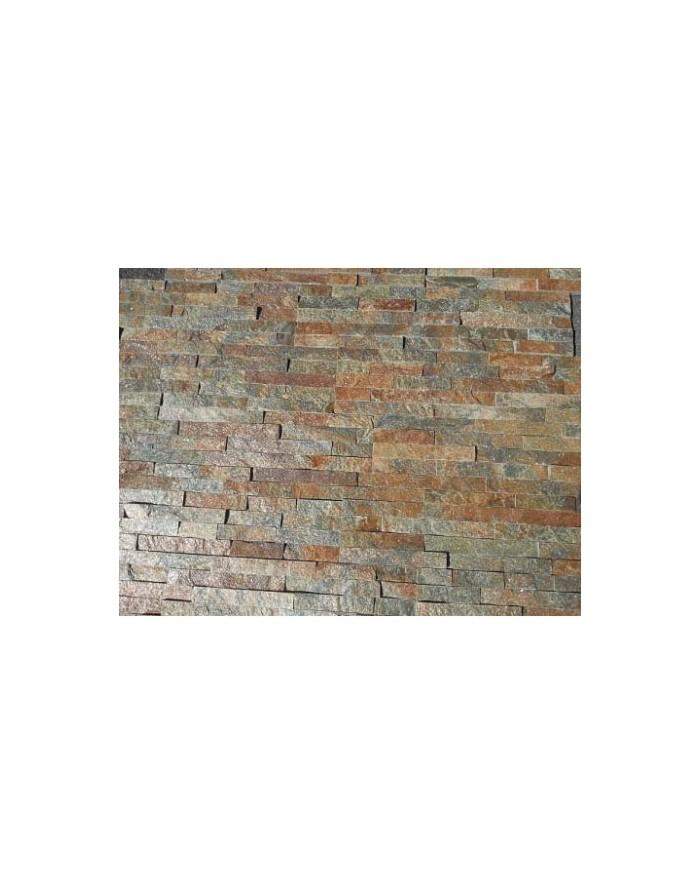 Plaqueta decoracion de piedra natural marr n s m - Plaquetas de piedra ...